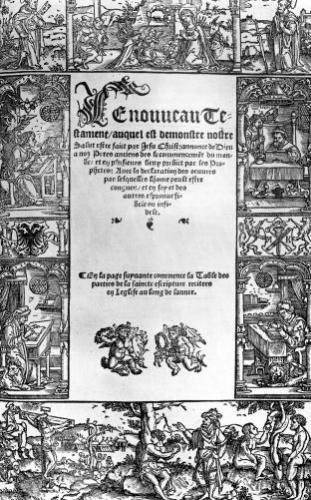 'New Testament' Title Page of a French Translation by Lefevre d'Etaples by Flemish School