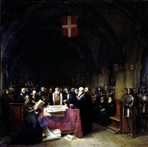The Chapter of the Order of St. John of Jerusalem held in Rhodes by Claude Jacquand