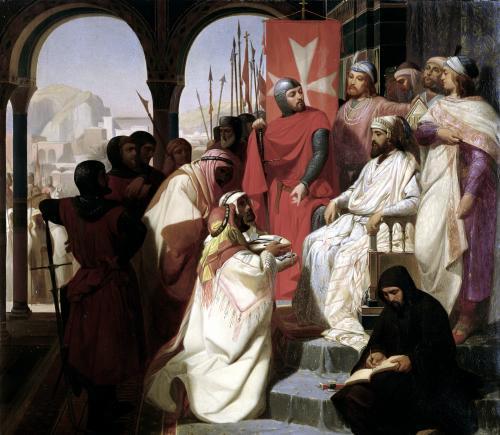 Knights of the Order of St. John of Jerusalem restoring religion in Armenia by Henri Delaborde