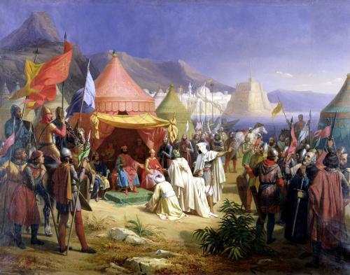 The Taking of Tripoli 1842 by Charles Alexandre Debacq
