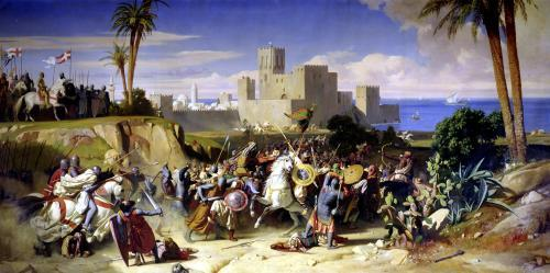 The Taking of Beirut by the Crusaders 1842 by Alexandre-Jean-Baptiste Hesse