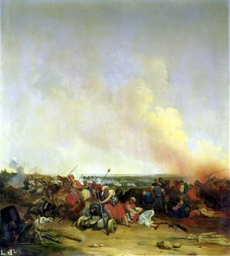Battle of Sidi-Ferruch 1830 by Jean-Baptiste-Prudent Carbillet