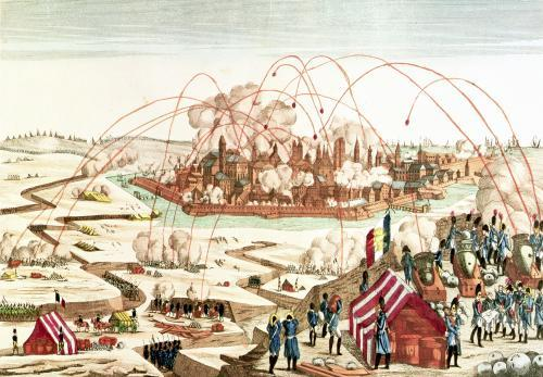The Siege of Danzig under the command of Marshal Pierre Joseph Lefebvre by French School