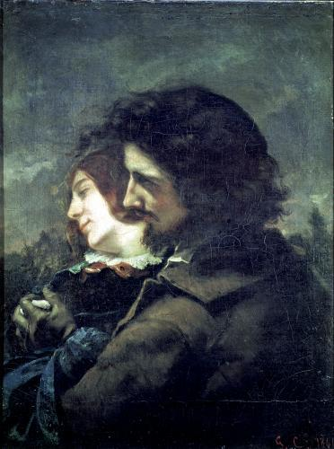 The Happy Lovers 1844 by Gustave Courbet
