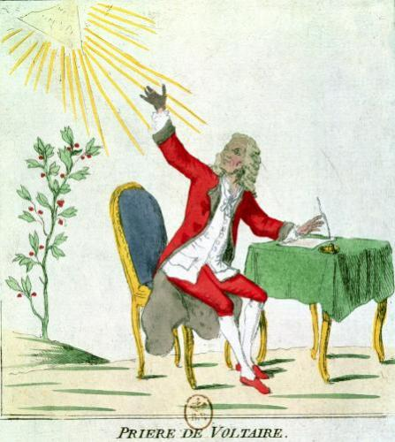 The Prayer of Voltaire by French School