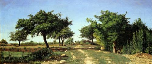 Path through the Apples Trees by Antoine Chintreuil