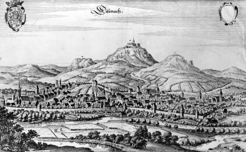 View of Eisenach by German School