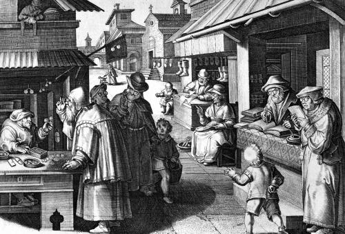 The Spectacles Seller by Jan van der Giovanni Stradano Straet