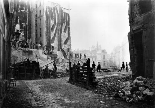Building of Avenue de l'Opera Paris 1858 by Charles Marville