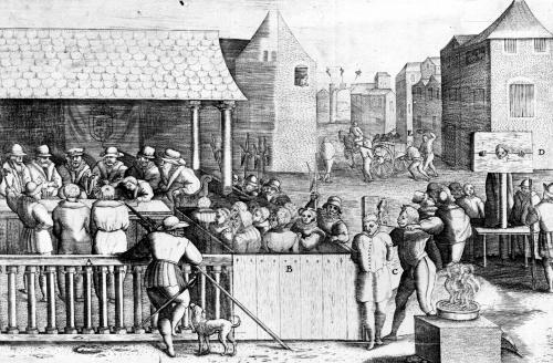 Acts and Violence of the Protestants 1562 by French School