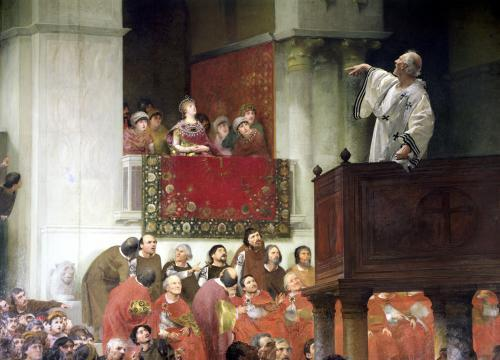 St. John Chrystostomos Preaching by Joseph Wencker