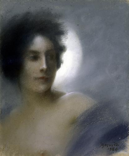 Woman with a Crescent Moon 1888 by Paul Albert Besnard