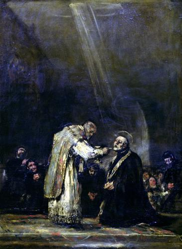 The Last Communion of St. Joseph Calasanz c.1819 by Francisco de Goya