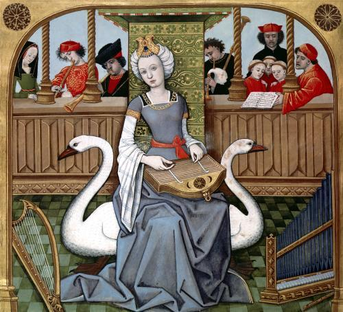 Allegory of Music from 'Les Echecs Amoureux by French School
