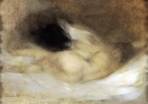 Reclining Nude by Eugene Carriere