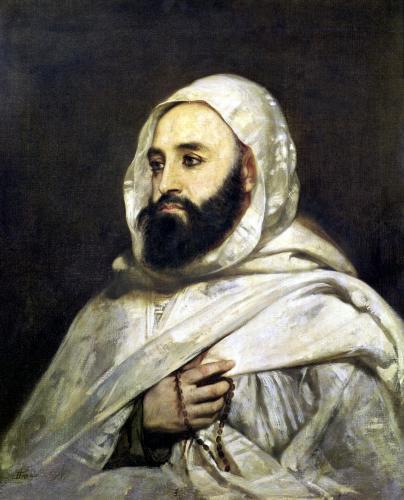 Portrait of Abd el-Kader by Jean Baptiste Ange Tissier