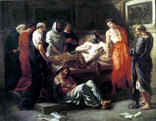 Study for The Death of Marcus Aurelius by Eugene Delacroix
