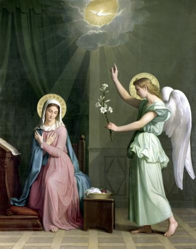 The Annunciation 1859 by Auguste Pichon