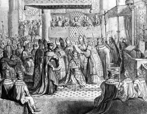 Consecration and Coronation of Henri IV at the Chartres Cathedral by French School