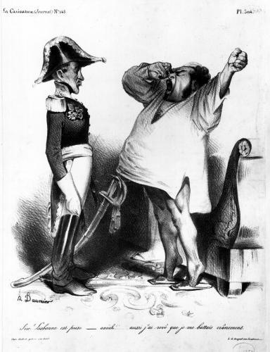 The Count of Villaflor telling Pedro I Emperor of Brazil and King of Portugal by Honoré-Victorin Daumier