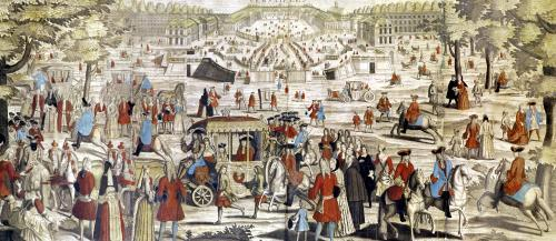 View of Versailles by French School