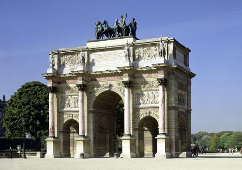 View of the Arc de Triomphe du Carrousel built 1806 by Charles Percier & Pierre Fontaine