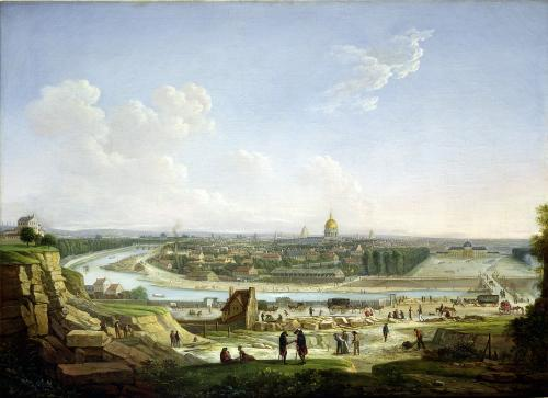 General View of Paris from the Chaillot Hill 1818 by Seyfert