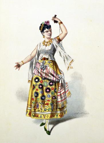 Galli Marie in the role of Carmen in 'Carmen' by Georges Bizet by French School