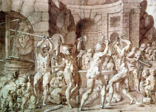 Cylopses in the Forge of Vulcan by Francesco Primaticcio