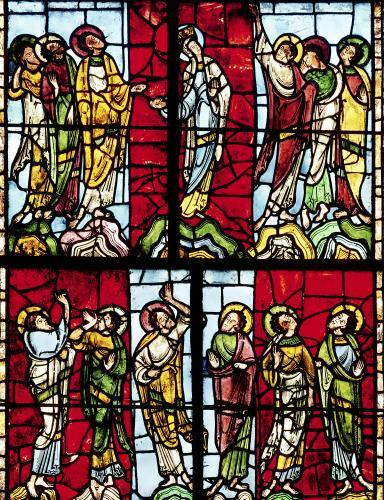 Window depicting the Ascension c.1145 by French School