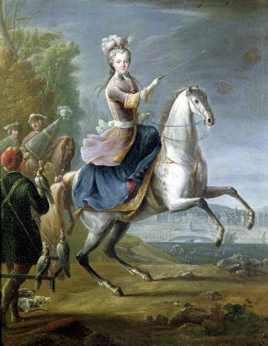 Equestrian Portrait of Maria Leszczynska by Jean-Baptiste Martin