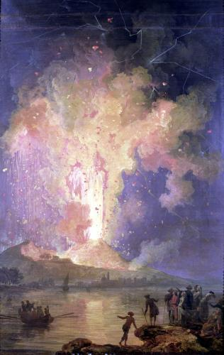 The Eruption of Mount Vesuvius in 1779 by Jacques Antoine Volaire