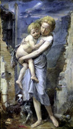 Brother and Sister Two Orphans of the Siege of Paris in 1870 by Jean-Baptiste Carpeaux