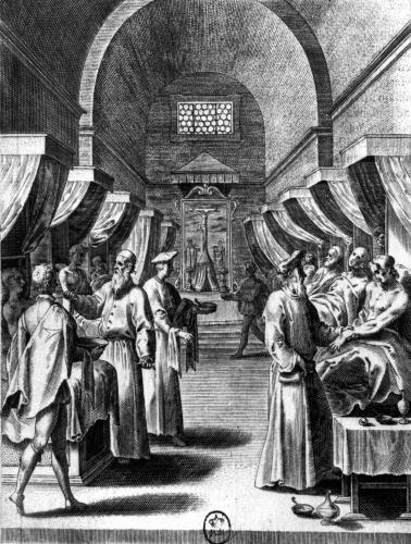 Hospitallers of the Order of St. John of Jerusalem Caring for the Sick by Philippe Thomassin
