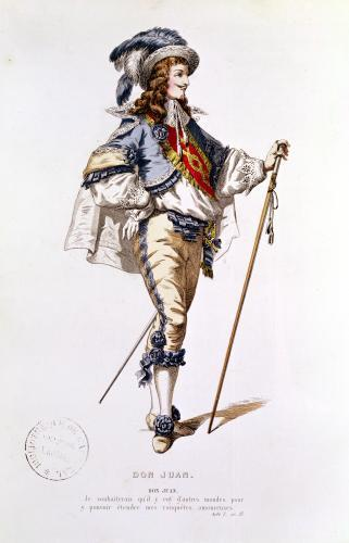 Costume design for 'Don Juan' by French School