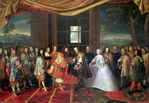 Meeting between Louis XIV and Philippe IV by Laumosnier