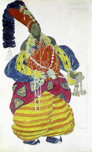 The Great Eunuch costume design for the ballet 'Scheherazade' by Leon Bakst