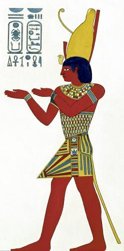 Nectanebo I wearing the double crown of Upper and Lower Egypt by Duchesne