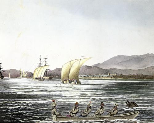 View of Manila Philippines 1826 by Ludwig Louis Choris