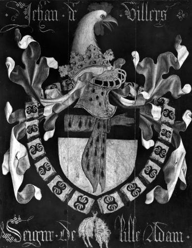 Coat of Arms of Jehan de Villers Seigneur of Lille Adam by Flemish School
