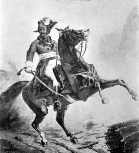 Equestrian portrait of Thomas Alexandre Dumas by French School