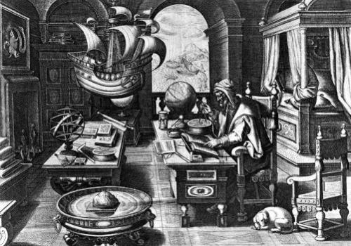 Flavio Gioia of Amalfi discovering the Power of the Lodestone by Jan van der Giovanni Stradano Straet