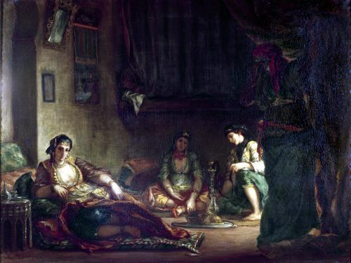 The Women of Algiers in their Harem 1847 by Ferdinand Victor Eugene Delacroix
