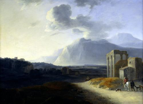 Landscape with Mount Stromboli by Willem Schellinks