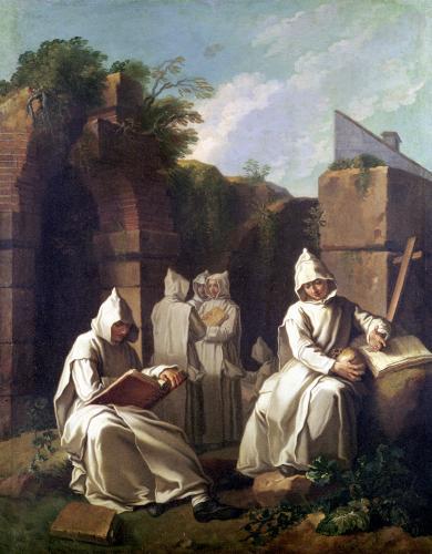 Carthusian Monks in Meditation by Etienne Jeaurat