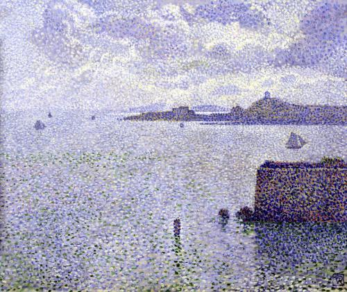Sailing Boats in an Estuary c.1892 by Theodore van Rysselberghe