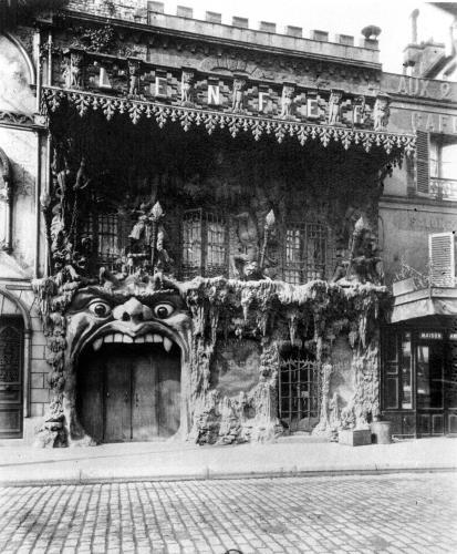 The Cabaret de 'l'Enfer' in Paris 53 boulevard de Clichy c.1900 by Eugene Atget