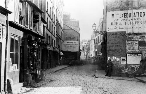 Rue Descartes from the Rue Mouffetard Paris 1858 by Charles Marville