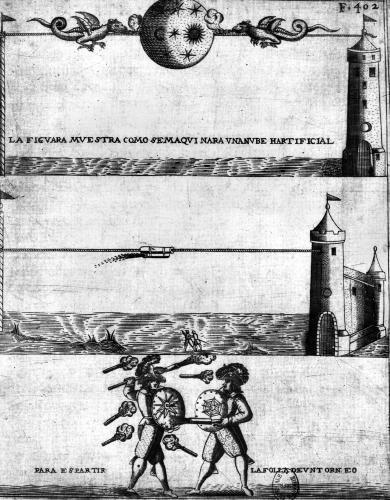 How to make an artificial cloud illustration from 'Tratado de Artilleria' by Flemish School