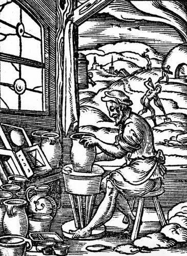 The potter 1574 by Jost Amman